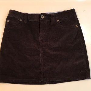 Brown corduroy Vineyard Vines skirt